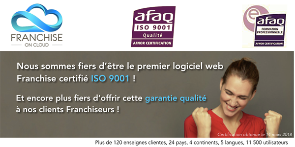 Franchise en Cloud et l'Afnor : ISO 9001